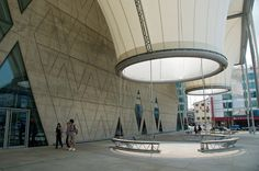 Dadong Art Center in Kaoshiung, Taiwan. By de Architekten Cie Futuristic Architecture, Architecture Design, Public Hotel, Shade Structure, Hotel Lobby, Places To See, Indoor Outdoor, Sailing, Design Inspiration
