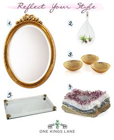 One Kings Lane: Reflect Your Style: How I would decorate my dream vanity.