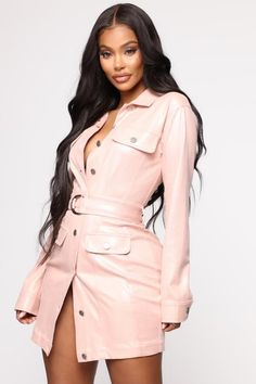 Taking The Lead Belted Mini Dress - Pink – Fashion Nova Black Women Fashion, Pink Fashion, Work Dresses For Women, Pink Mini Dresses, Fashion Nova Models, Women Swimsuits, Ideias Fashion, Dress Black, Dress Red