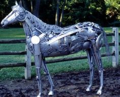Creative Recycled Sculpture Art Work