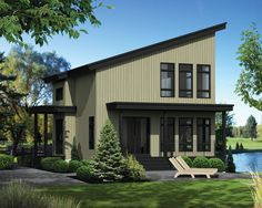 Compact Vacation House Plan - 80818PM | Modern, Mountain, Vacation, Canadian, Metric, Narrow Lot, 2nd Floor Master Suite, CAD Available, Loft, PDF | Architectural Designs