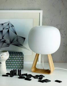 TOAD lamp By Finnish design brand HIMMEE. Designer Timo Niskanen. New Nordic design. Interior light. Table light. Wood and glass.
