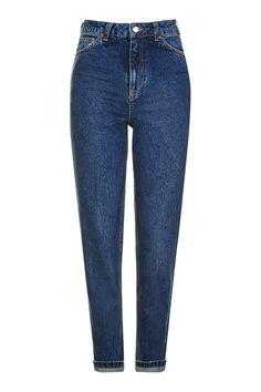 MOTO Dark Blue Mom Jeans