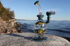 Mothership Glass Worked Faberge Egg glass looks so much prettier in sunlight!  That's my kind of dabbing spot :D