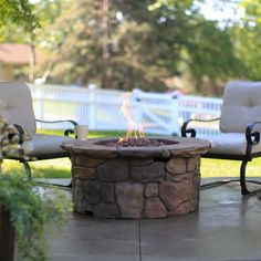 Red Ember 45in. Clarksville Propane Campfire Fire Pit with Cover - The Red Ember 45 in. Clarksville Propane Fire Pit Table transforms your backyard into a cozy retreat for nearly any season. This fire pit is made...