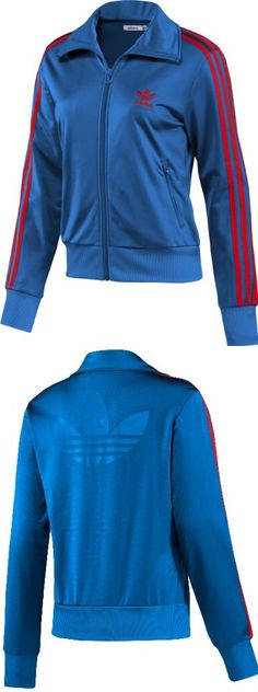 Adidas Originals Women's Firebird Track Jacket-Blue - Adidas Originals Women's Firebird Track Jacket-BlueFeatures:Long sleeves, mock neck, full zip Ribbed sleeves and waist openings Trefoil logo at back Two zip-close front pockets100% PolyesterMeasuremen... - Track & Active Jackets - Apparel -