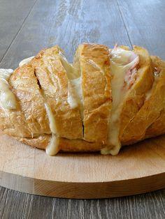 Stuffed bread loaf.
