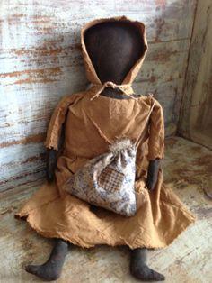 Primitive Prairie Doll by VillagePrimitivesbyM on Etsy, $39.00
