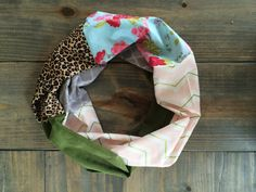 Colorful Spring Infinity Scarf by KutKloth on Etsy