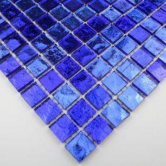 Mosa que piscine salle de bain douche vitro bleu for Carrelage sdb bleu