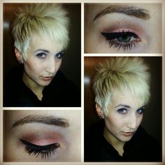 Mac cosmetics look using their loose pigments. Very natural and great for an every day look.