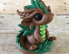 pate fimo figurines dragon