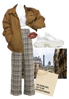 """""""parisian"""" by angelswguns ❤ liked on Polyvore featuring Zara, Off-White, Balenciaga, Gucci and Lime Crime"""