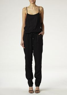 Black jumpsuit with long legs and thin straps from Twist & Tango | Twist & Tango