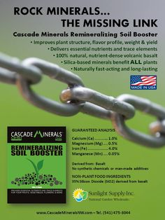 1000 images about cascade minerals remineralizing soil for Mineral soil vs organic soil