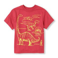 He can learn his dinosaurs right from this tee!