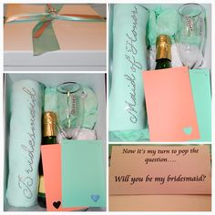 Wedding Ideas-DIY Bridesmaid gift boxes /Moh gift boxes. Will you be my bridesmaid?