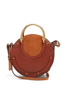 a883a126c9951 Chloé Pixie Small leather and suede shoulder bag