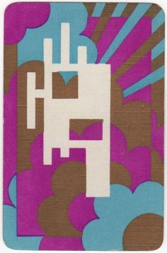Playing Cards 1 Swap Card - Vintage English Art Deco CLOUDS + SUNBURST RAYS Gilt    eBay