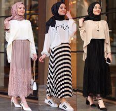 Ab muscles word conjures up images of gorgeous Muslim girls with pretty s… İslami Erkek Modası 2020 – Tesettür Modelleri ve Modası 2019 ve 2020 Modern Hijab Fashion, Hijab Fashion Inspiration, Muslim Fashion, Mode Inspiration, Modest Fashion, Fashion Outfits, Hijab Style Dress, Hijab Look, Hijab Chic