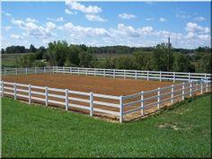 of 3 Rail Vinyl Horse Fence Vinyl Railing, Horse Fencing, White Fence, Deck, Horses, Garden, Outdoor Decor, Horse Fence, Decks
