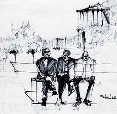 Naqshe jahan square (4) by Behzad Bagheri Sketches
