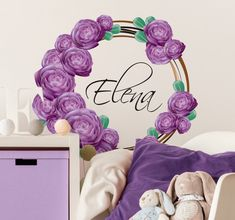 Get yourself this beautiful name wall sticker with the trend colour of the year: ultra violet!