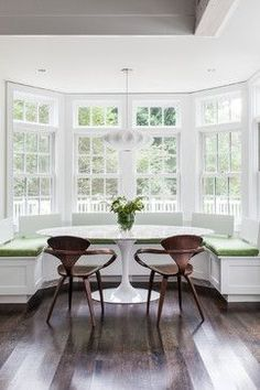 25 Great Transitional Dining Room Designs Your Home: 25 Kitchen Window Seat Ideas Window Seat Kitchen, Kitchen With Bay Window, Window Benches, Window Table, Bay Window Seating, Window View, Interior Architecture, Interior Design, Architecture Student