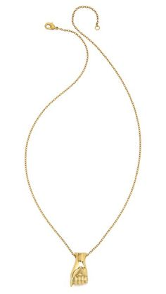 Monserat De Lucca Sign Language Alphabet Necklace #Shopbop #MakeTheOutfit