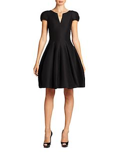 Halston Heritage Cap-Sleeve Sateen Dress- LOVE this in red, light blue, not navy. OPTIONAL colors