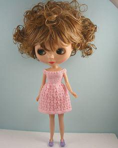 Gorgeous handmade dress for a Blythe doll....