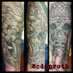 Tibetan skull forearm piece