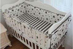 6 Pcs Baby Bedding Sets Bumper Breathable Crib Cotton Print Cartoon Baby Bumper Bed Around Bed Sheets Baby Bed Bumper Bedding