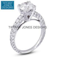 .38 ct K-SI2 Round Natural Diamond 18k Gold Milgrain Engagement Ring 3.97g