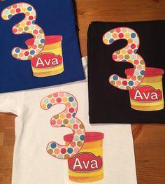 Kids Play-Doh Birthday Shirt by LittleATs on Etsy