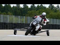 Bosch is testing a gas-powered anti-slide system for motorcycles