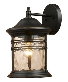 Another great find on #zulily! Matte Black Madison Outdoor Sconce #zulilyfinds