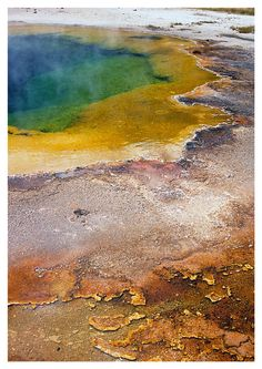 Sulfur Pools: Yellowstone Park, Wyoming