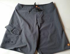 4a3f6f9177 QUICKSILVER Men's Board Shorts Swim Trunks Gray Textured Stripes 20