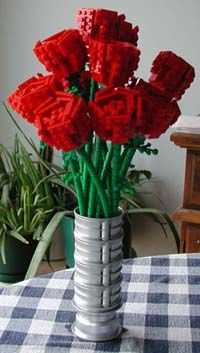 how to make a lego flower