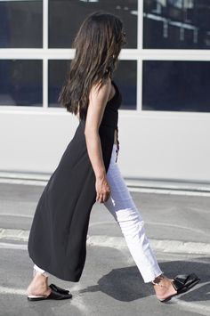 Outfit   A Minimal Take On The Sleeveless Tunic and Flat Mules