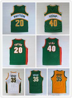 Kevin Durant  35 Shawn Kemp  40 Gary Payton  20 Jerseys  91524d85f