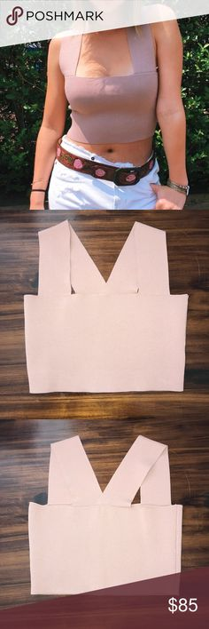 LF SEEK The Label Square Neck Crop Top ✨Like orginial will delete -->  Lf seek the label bandage crop top from Spring 2017. Size medium in a blush pink like color. Fit me and I'm a small I think it's fine for s-m.  I love this and wanted the crop so bad but it's blending with my skin because it's a bit darker than the bodysuit and that just bugs me. I'm still a bit iffy because of how hard it was for me to get this color but the price can be semi negotiated. VERY LITTLE WIGGLE ROOM IN PRICE…