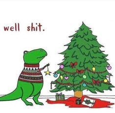 T Rex Christmas woes Christmas Jokes, Christmas Cartoons, Funny Christmas Cards, Christmas Pictures, Christmas Fun, Holiday Fun, Xmas, Holiday Images, Holiday Cards