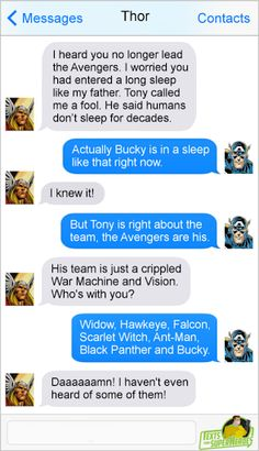 Hahaha. How the convo in Civil War really went.