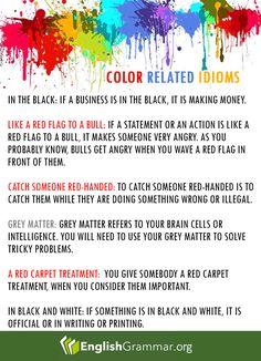 Color related Idioms
