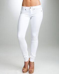 bebe white jeans-signature stretch