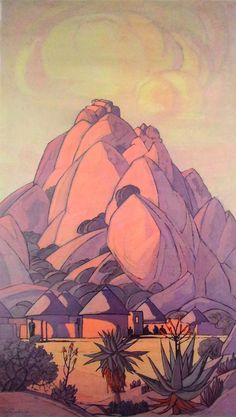 Opinion: Pierneef Posers, Or Painting Over The Past - pARTicipate Landscape Art, Landscape Paintings, Africa Drawing, South Africa Art, South African Artists, Witch Art, Silk Painting, All Art, Art Pictures