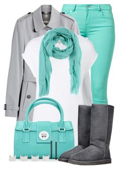 """""""Turquoise"""" by fortheloveofpoly ❤ liked on Polyvore featuring SuperTrash, Burberry, Witchery, Arte Cashmere, UGG Australia, Maison Margiela and fortheloveofpolytrophyset"""