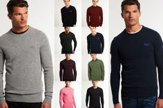 New Mens Superdry Knitwear Selection. Various Styles & Colours